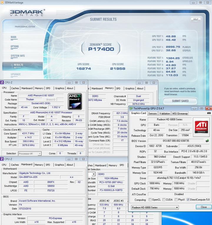 1000mhz 11003 ASUS EAH6850 DirectCU 1GB DDR5