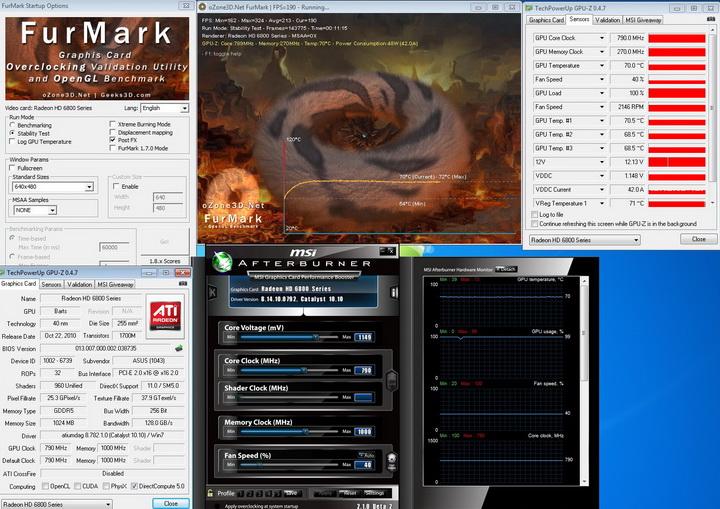 defult ASUS EAH6850 DirectCU 1GB DDR5