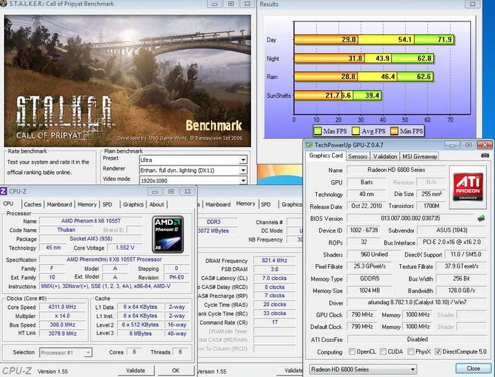 stalker ASUS EAH6850 DirectCU 1GB DDR5