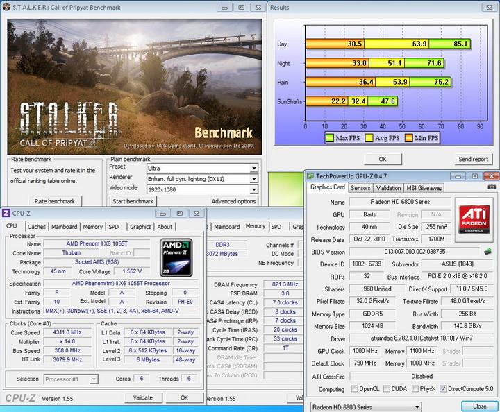 stalker1 ASUS EAH6850 DirectCU 1GB DDR5