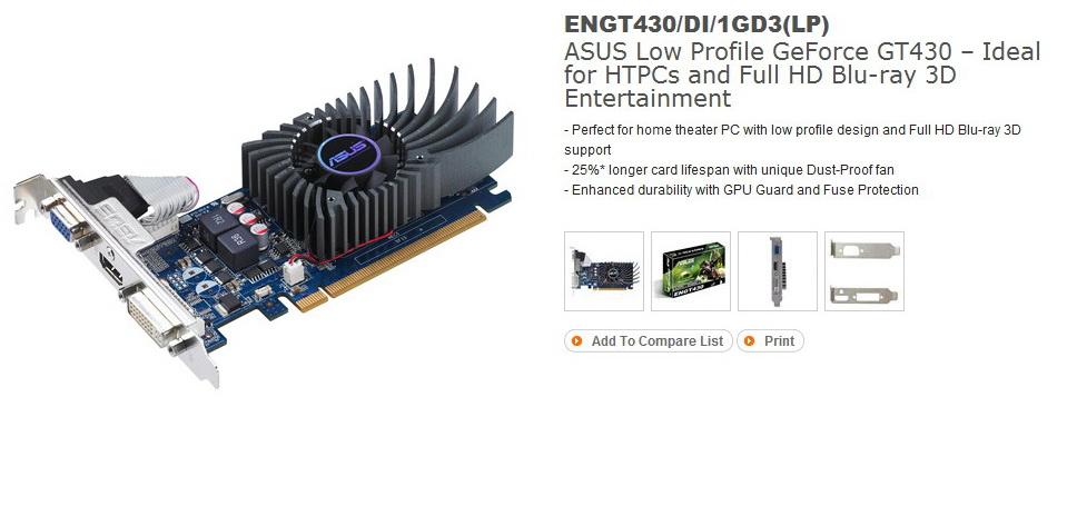 11 ASUS ENGT430 1GB DDR3