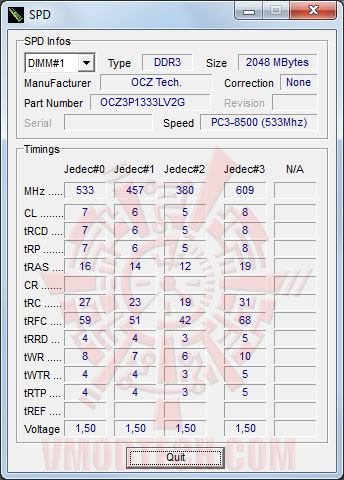 memset spd OCZ XTC Platinum Series PC3 10666 CL7 Triple Channel