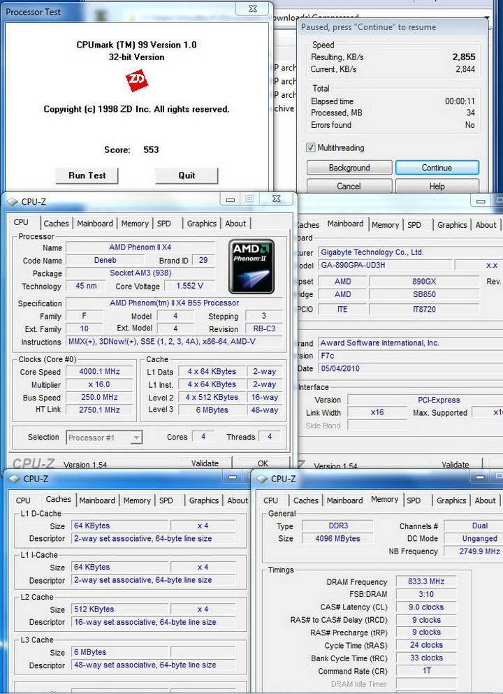 mix9 Gigabyte 890GPA UD3H  Unlock Core