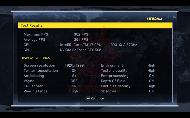 HAWX2 DX11 a NVIDIA GeForce GTX 590 3GB GDDR5 Debut Review