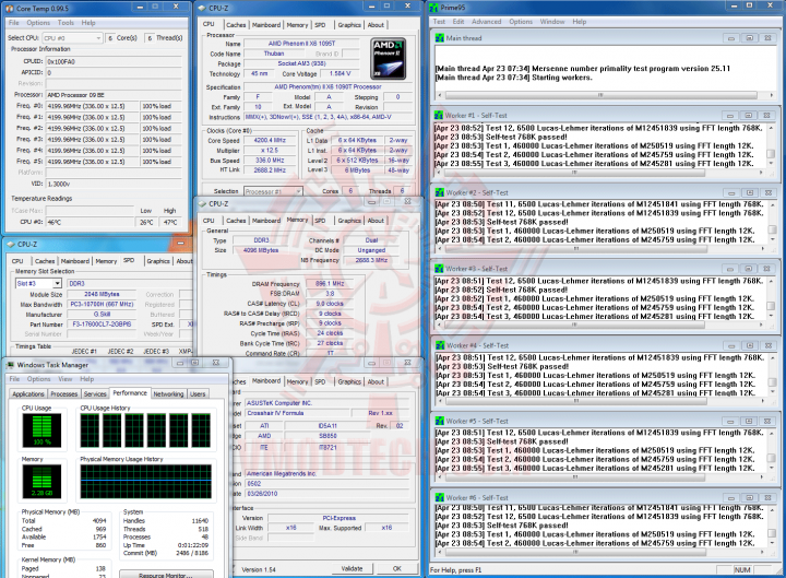 prime 4200 1 720x529 AMD Phenom II X6 1090T Black Edition Overclock Results