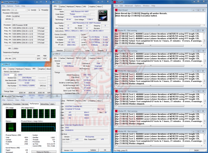 prime 4200 2 720x531 AMD Phenom II X6 1090T Black Edition Overclock Results