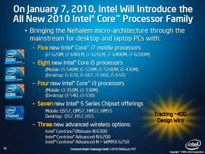 newi7 New Intel Core i5 Westmere CPU integrated graphics platform