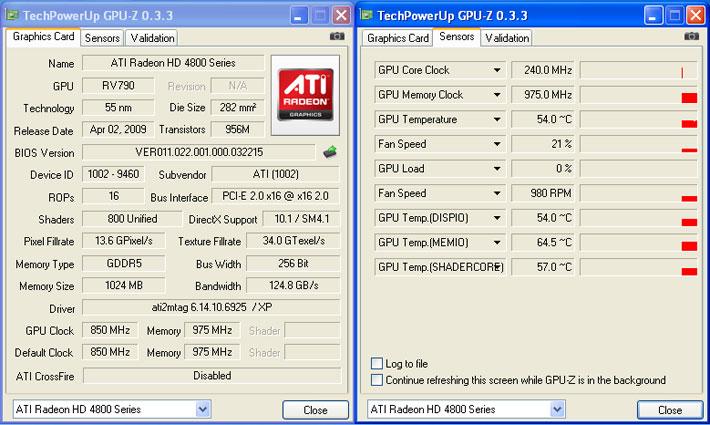 idle PowerColor ATI Radeon HD4890 สดจริงหรือไม่ ท้าพิสูจน์