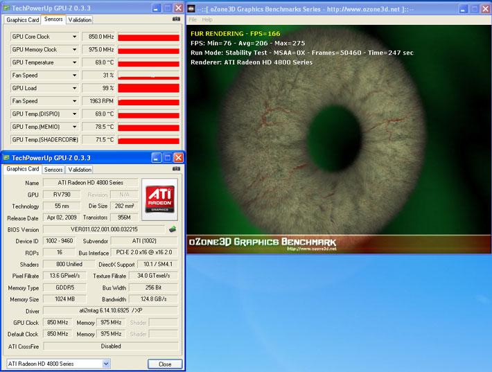 temp PowerColor ATI Radeon HD4890 สดจริงหรือไม่ ท้าพิสูจน์