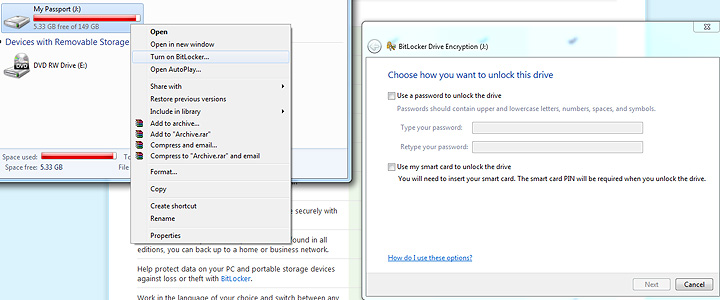 bitlocker Windows 7 Final RTM: Review and Performance comparison