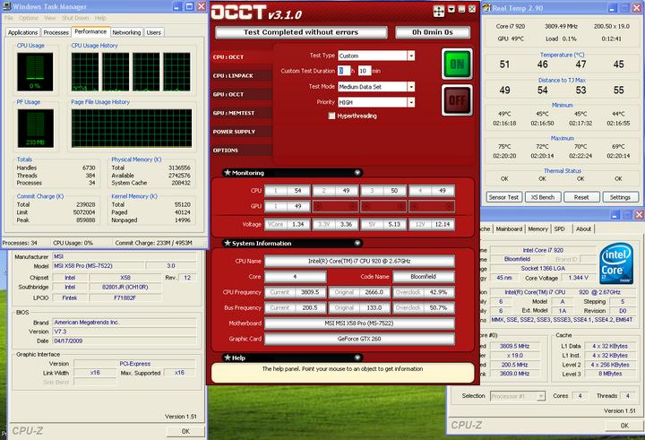 occt Cooler Master V10
