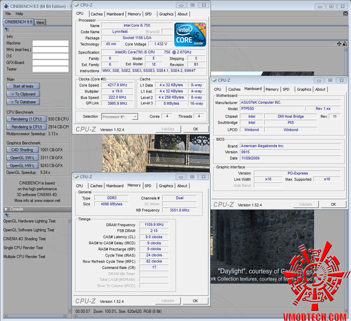 p7p55d cinebench95 ASUS P7P55D Review
