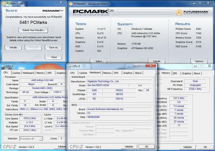 pcmark056 GIGABYTE GA MA785GT UD3H Review