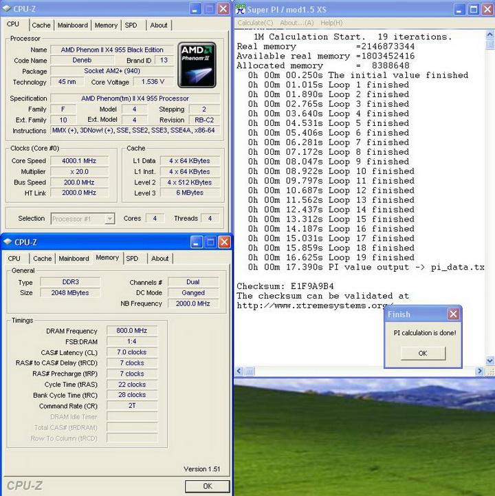 pi1m1 Phenom II955 VS  DFI DK 790 FXB M3H5