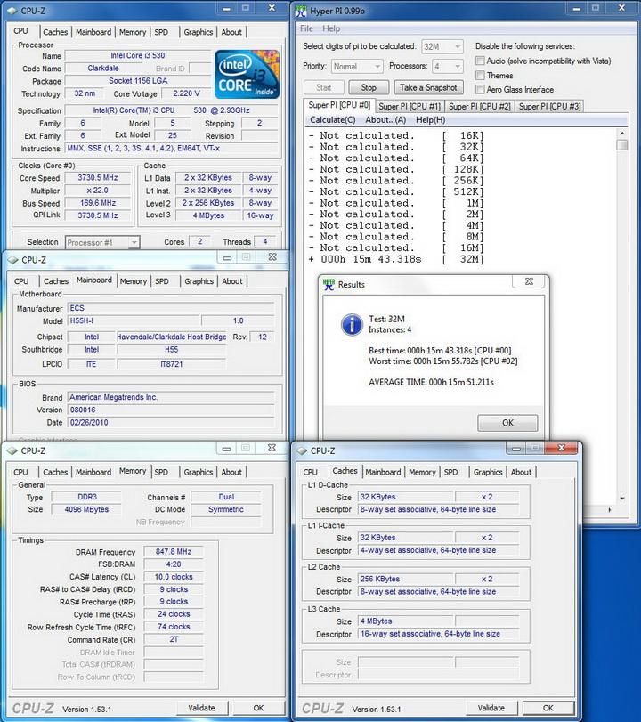 pi3218 ECS  H55H I Review