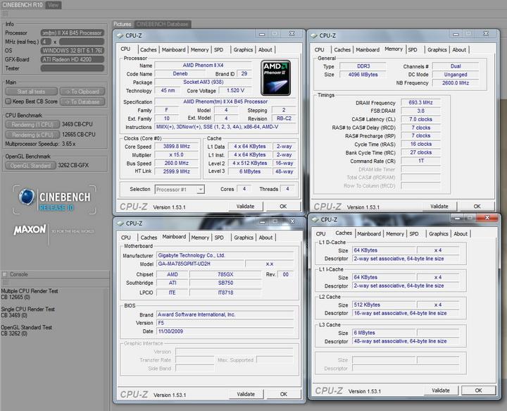r108 AMD  Phenom II 545 @ 4 Cores !!!