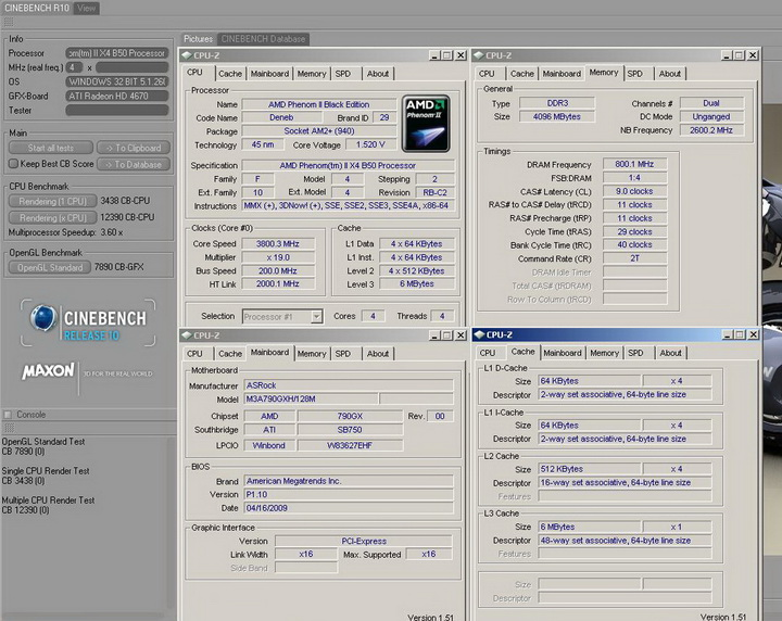 r10r Phenom II X2 550BE VS Asrock M3A790GXH/128M 4 Core Test..