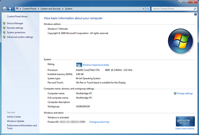 systeminfo Windows 7 Final RTM: Review and Performance comparison
