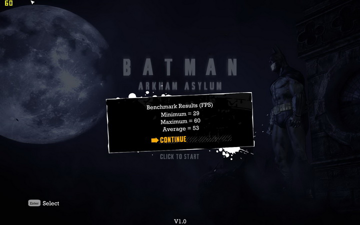batman result EVGA GeForce GTS 450 1024GB GDDR5 Review