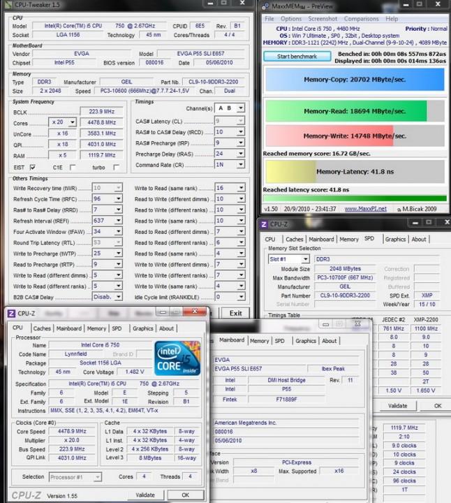 maxmem i5 646x720 Review GEIL EVO TWO DDR3 PC 17600