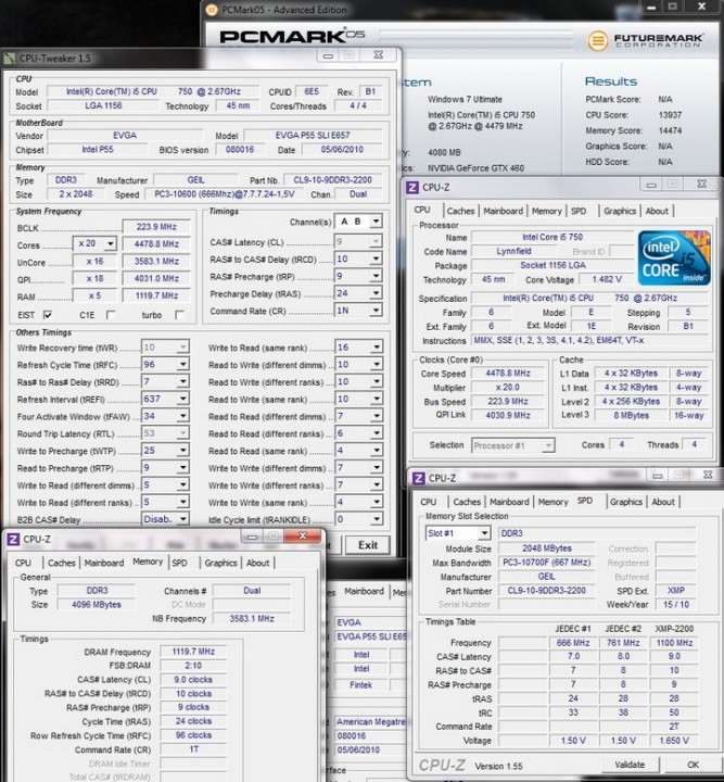 pcmark05 i5 667x720 Review GEIL EVO TWO DDR3 PC 17600