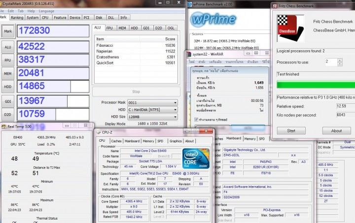 multi results 720x453 GIGABYTE EP45 UD3L Review