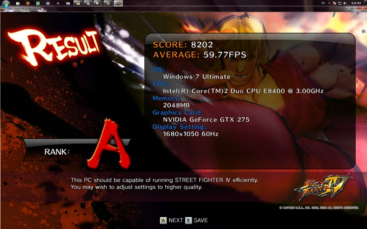 streetfighter result 1 GIGABYTE EP45 UD3L Review