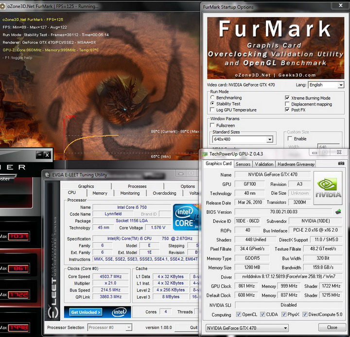 furmark 1 INNO 3D: nVidia GEFORCE GTX470 Review