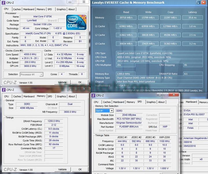 everest mem benchmark 1 KINGMAX HERCULES DDR3 EP2 @ 2,400 MHz