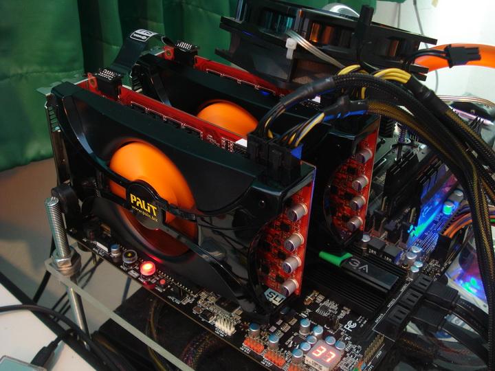 system1 story Palit Geforce GTX460 1024MB SLI Overclock Test