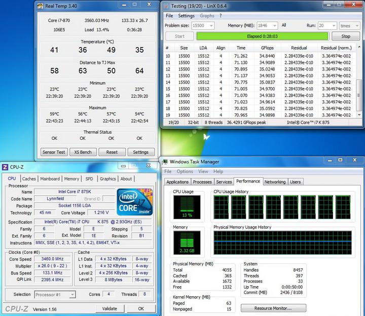 linx running ASUS P7H55 M LX
