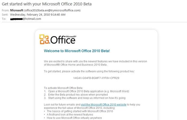 untitled15 ดาวน์โหลดฟรี โปรแกรม Office Home & Business 2010 Beta
