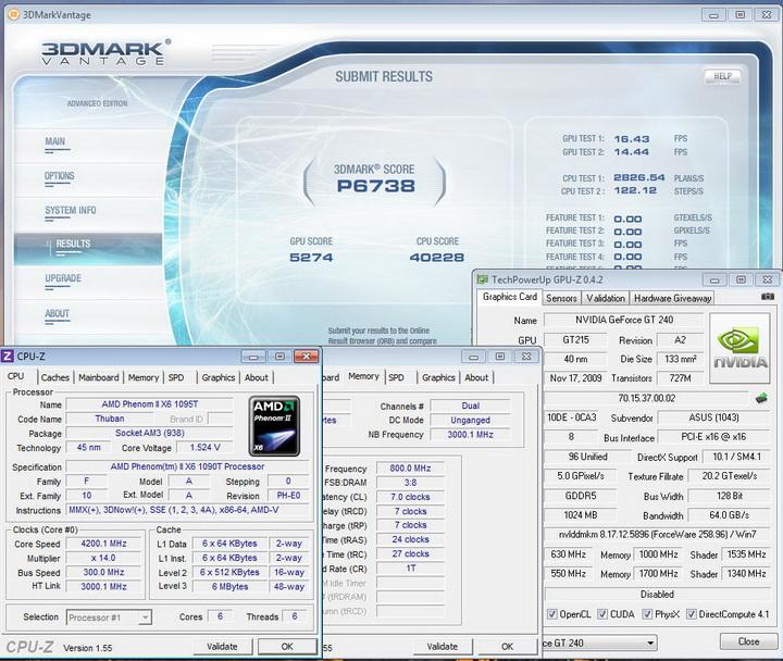 vantage20 Asus ENGT240 1GB DDR5