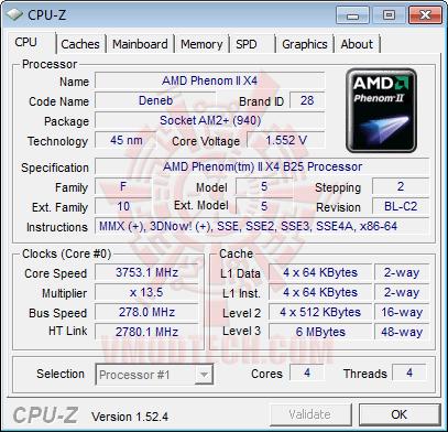 cpuz2 AMD Athlon II X3 425 Unlocks Core & L3 Cache Review