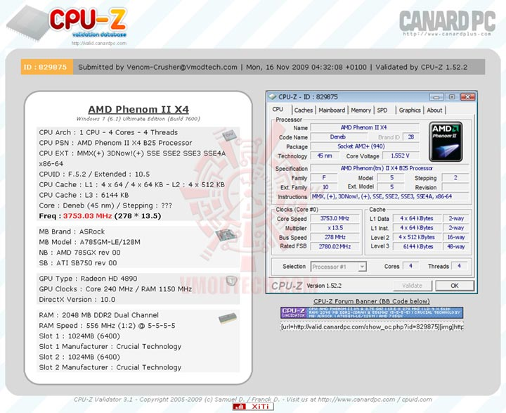 validatex4 AMD Athlon II X3 425 Unlocks Core & L3 Cache Review