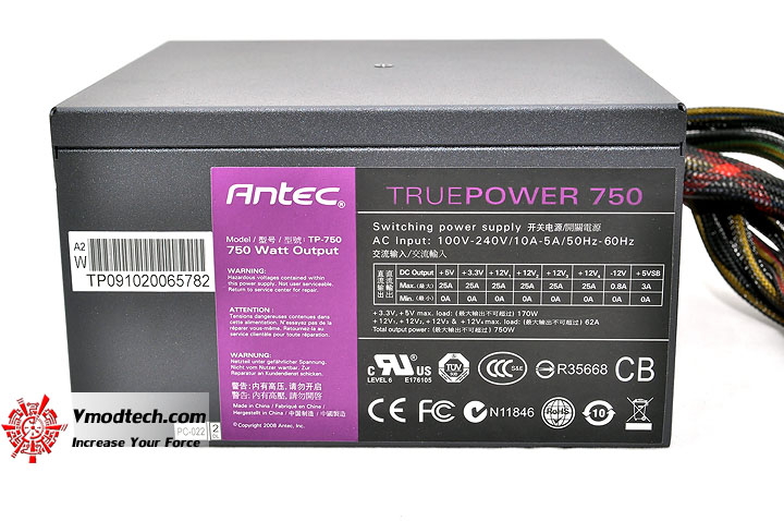 dsc 0029 Antec TRUEPOWER 750W 80 PLUS BRONZE : Review