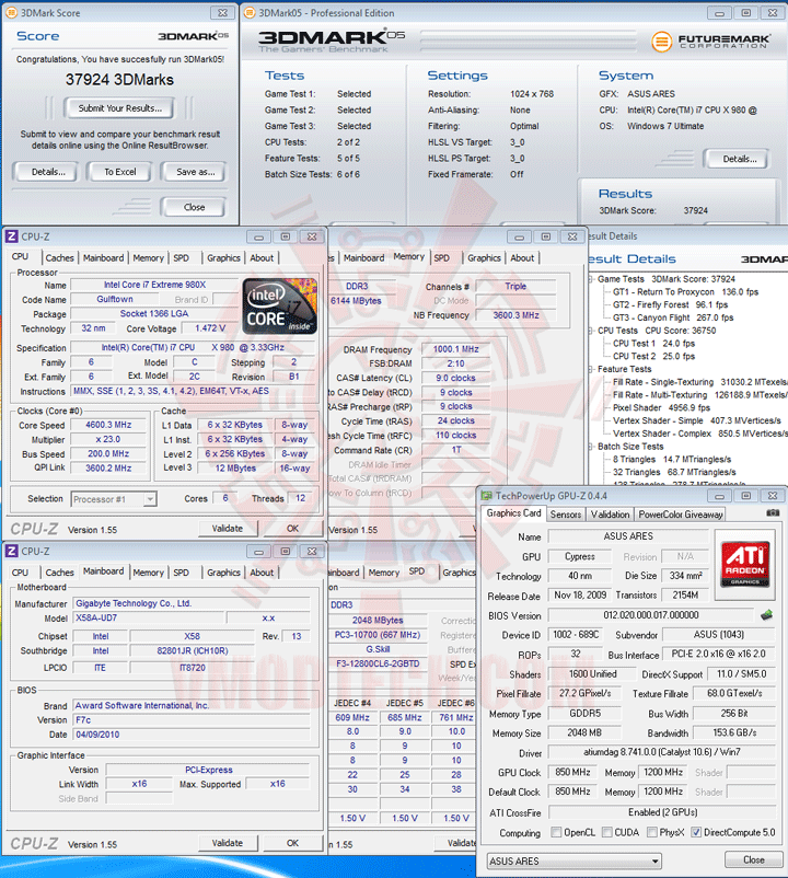 05 df ASUS ARES HD 5870 X2 4GB GDDR5 Review