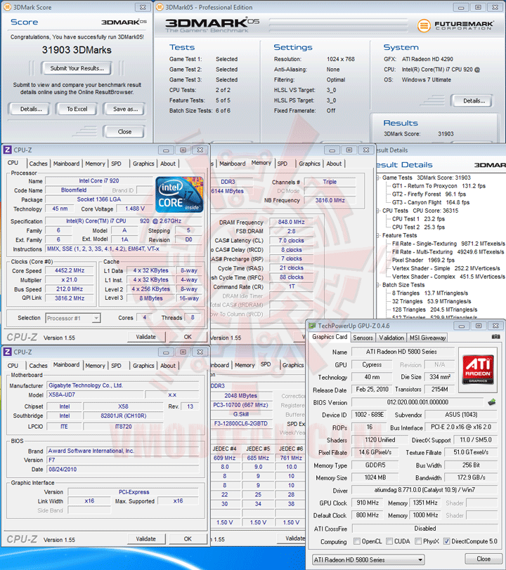 05 oc ASUS EAH5830 DirectCU HD 5830 1GB GDDR5 Review