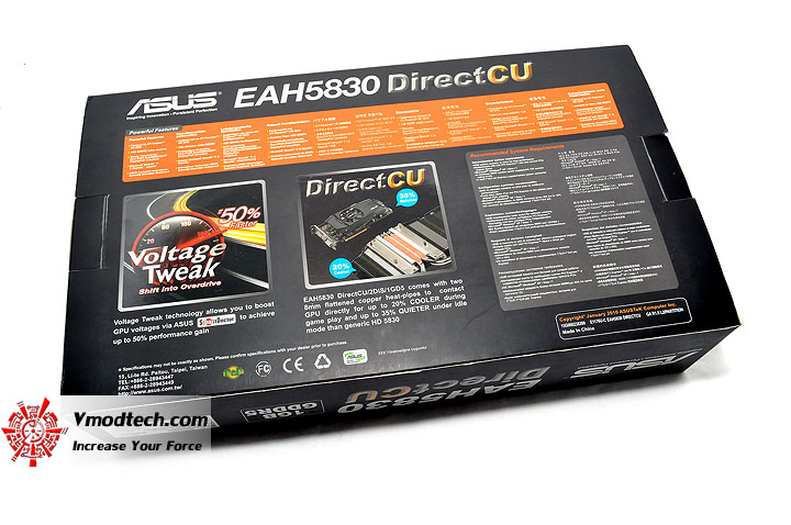 dsc 0064 ASUS EAH5830 DirectCU HD 5830 1GB GDDR5 Review
