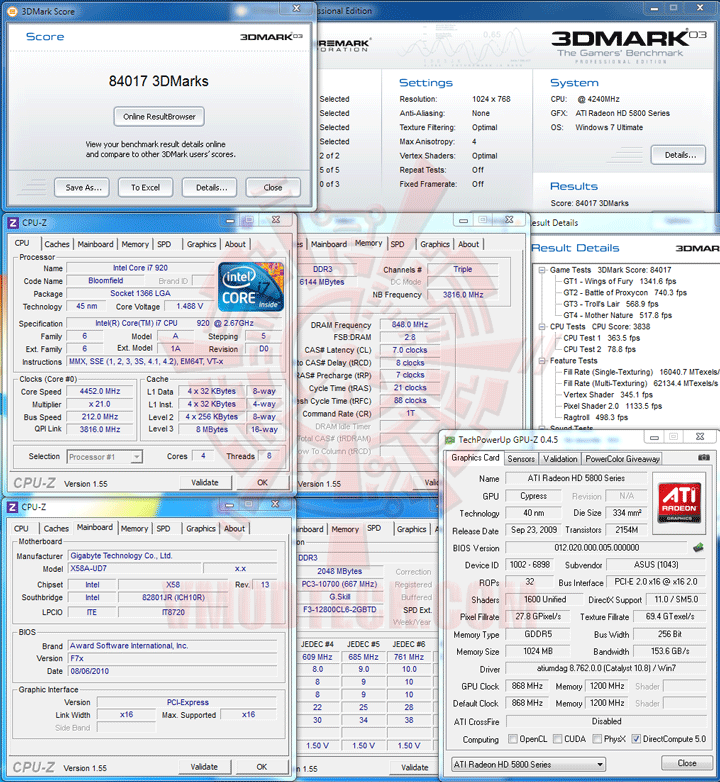 03 df ASUS EAH5870 V2 HD 5870 1024MB DDR5 Review