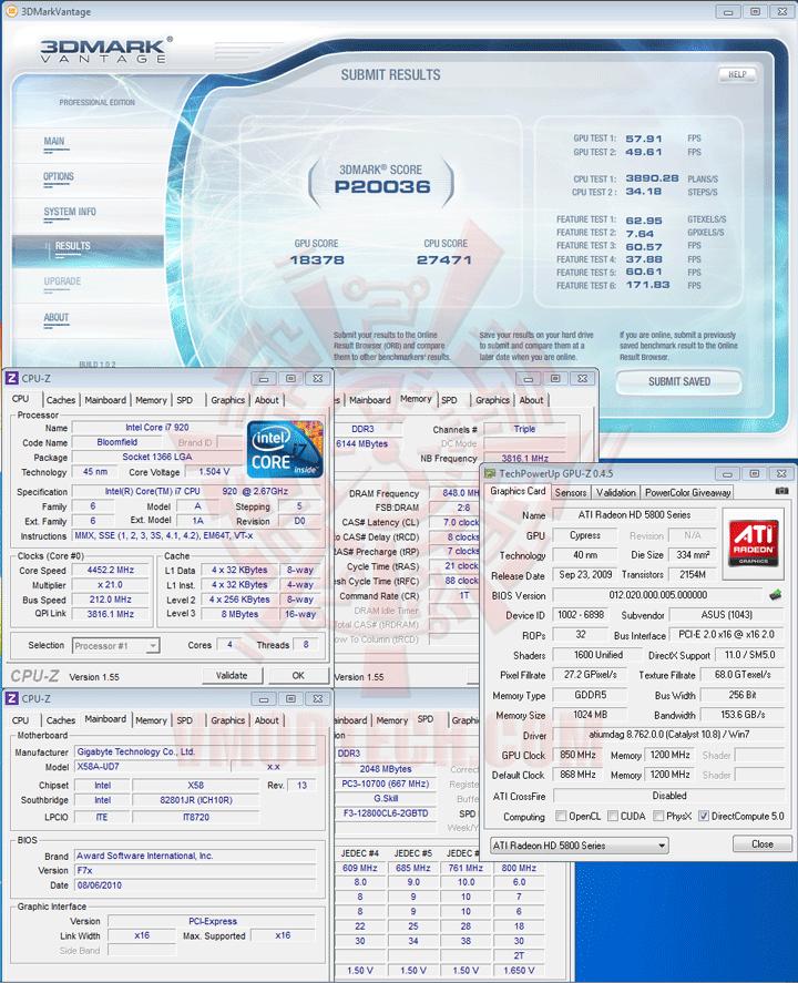 07np a ASUS EAH5870 V2 HD 5870 1024MB DDR5 Review
