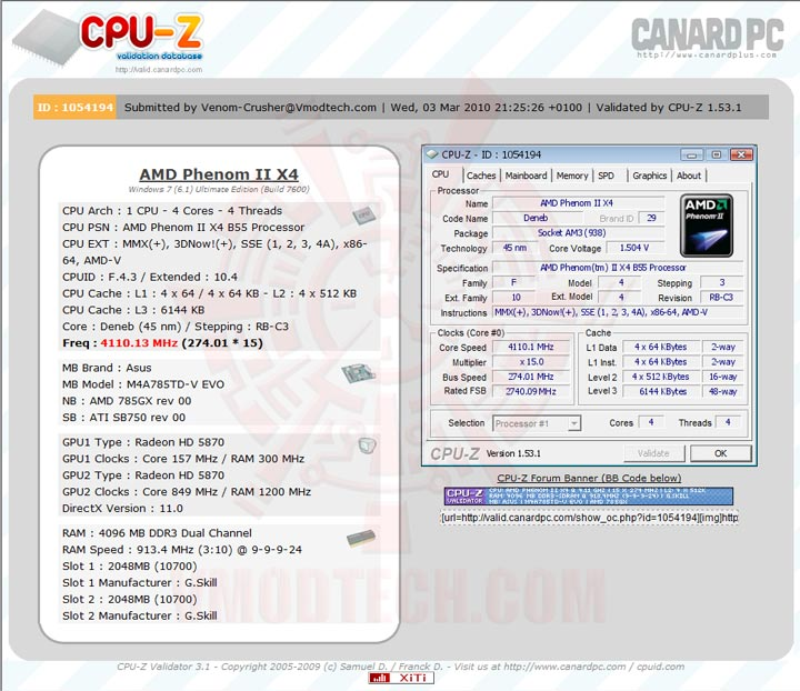 validate ASUS M4A785TD V EVO Review
