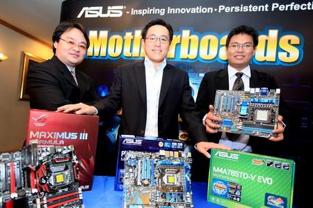 """3 """"อัสซุส"""" ส่งมาเธอร์บอร์ดชิพเซ็ต P55 รองรับ CPU Core i5 และ Core i7 (Socket 1156) ลงตลาดพร้อมกัน 7 รุ่น เน้นเทคโนโลยี """"เอ็กซ์ตรีม ดีไซน์"""""""