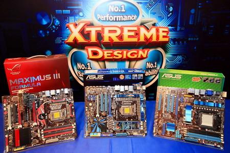 """4 """"อัสซุส"""" ส่งมาเธอร์บอร์ดชิพเซ็ต P55 รองรับ CPU Core i5 และ Core i7 (Socket 1156) ลงตลาดพร้อมกัน 7 รุ่น เน้นเทคโนโลยี """"เอ็กซ์ตรีม ดีไซน์"""""""