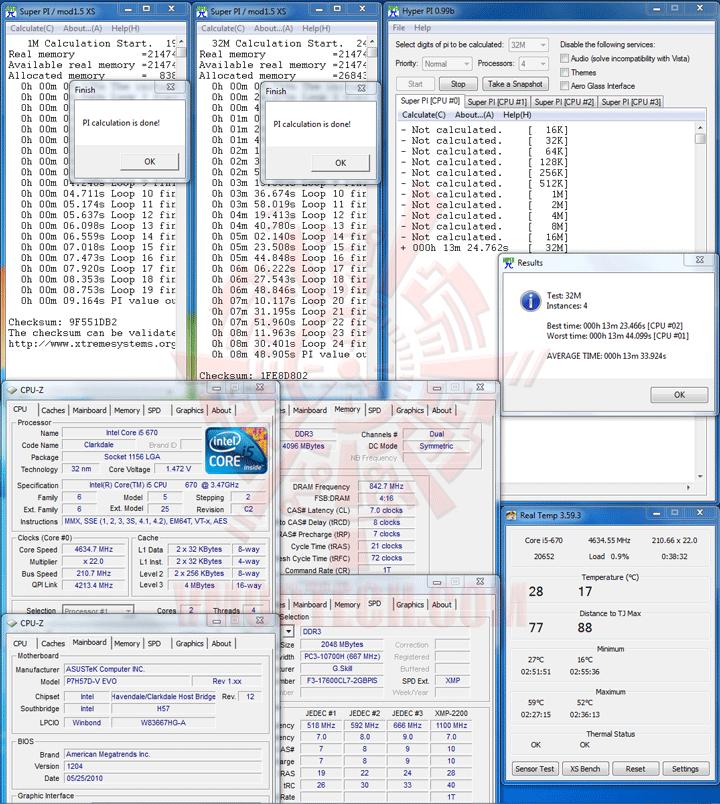 spi32 ASUS P7H57D V EVO Motherboard Review
