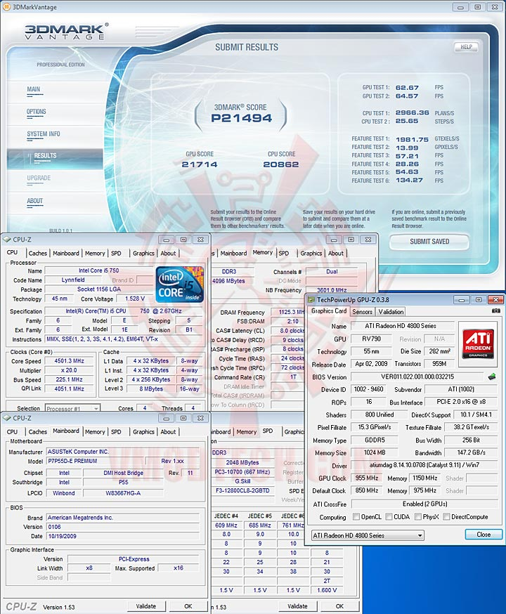 07 ASUS P7P55D E Premium : Review