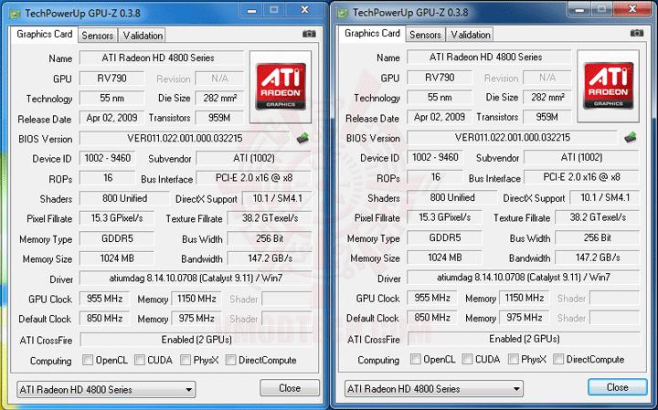 gpu z ASUS P7P55D E Premium : Review