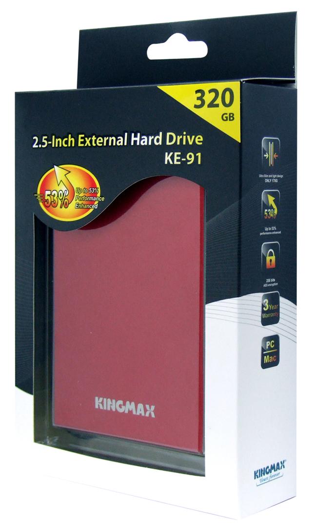 ke91 retail red02 เปิดตัว KE 91 ฮาร์ดไดรฟ์แบบพกพางานปราณีตจาก KINGMAX