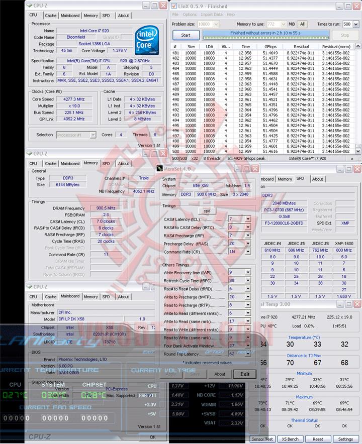 LinX 225 2 DFI LANParty DK X58 T3eH6