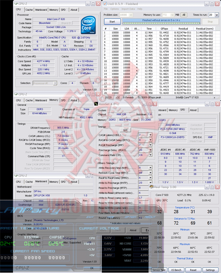 LinX 225 DFI LANParty DK X58 T3eH6